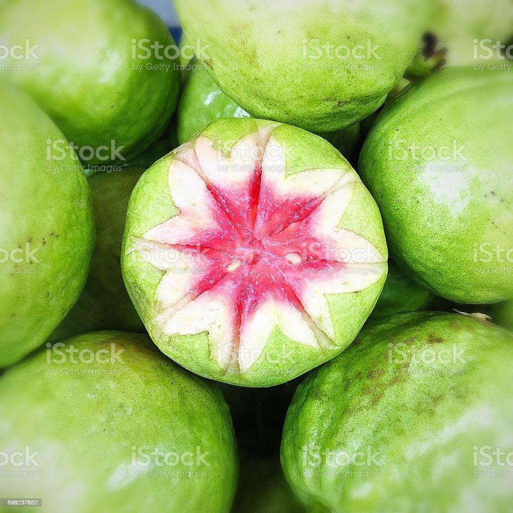 Fresh guava fruits stock photo