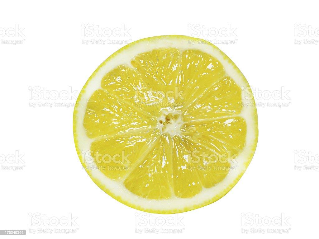 Fresh Half Lemon stock photo
