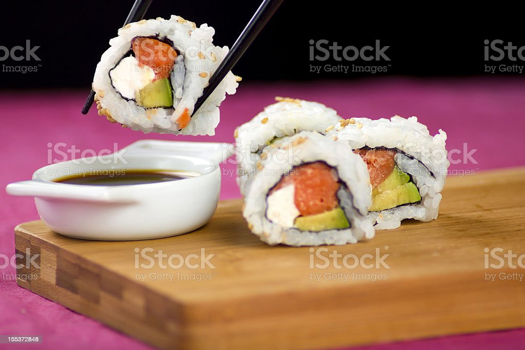 Fresh handmade Sushi royalty-free stock photo