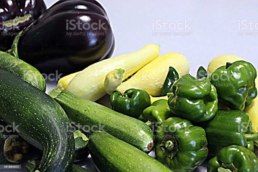 Fresh Harvest from a Home Garden stock photo
