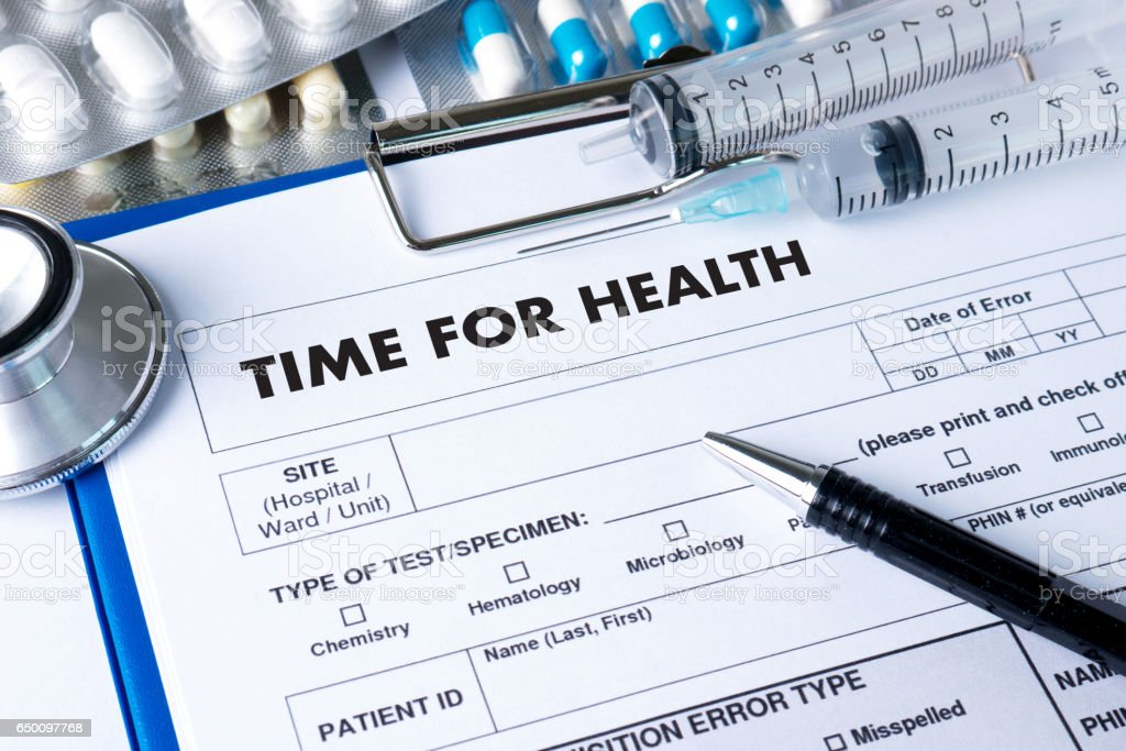TIME FOR HEALTH  Fresh healthy medicine, health and hospital stock photo