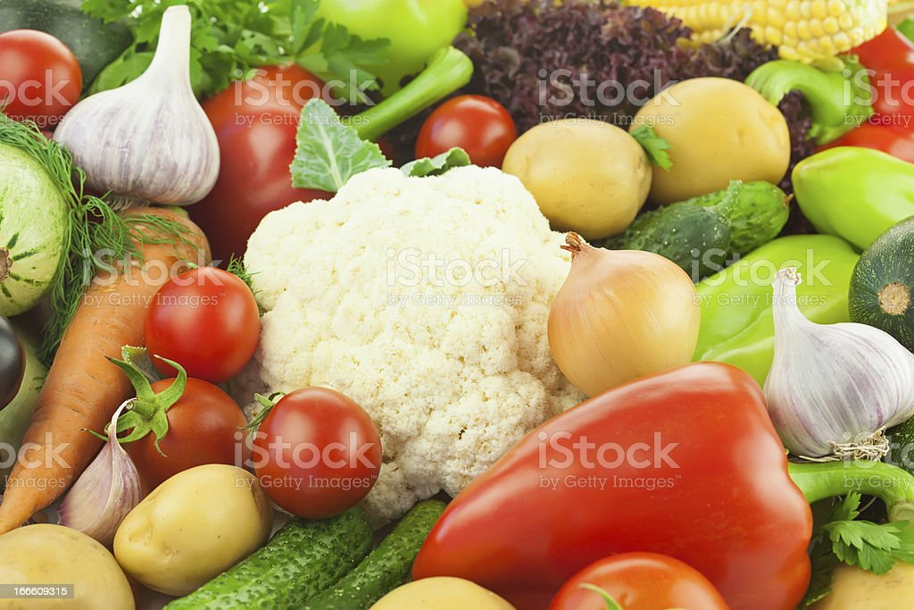 Fresh Healthy Vegetables /  Food Background royalty-free stock photo