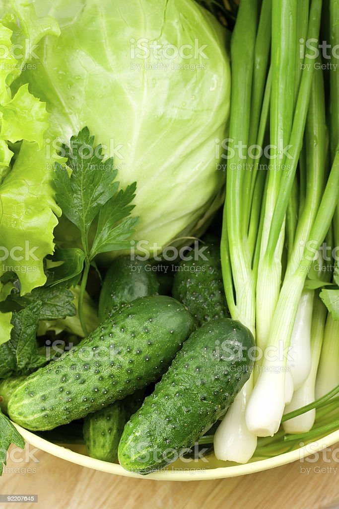 Fresh heap of greens royalty-free stock photo