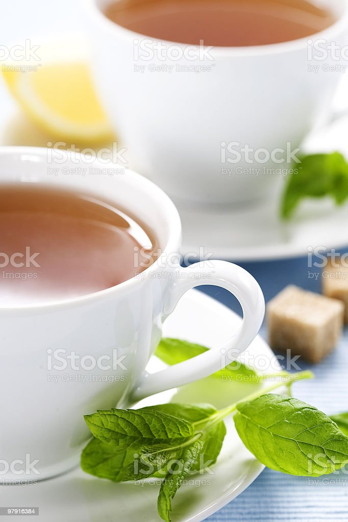 fresh herbal mint tea royalty-free stock photo