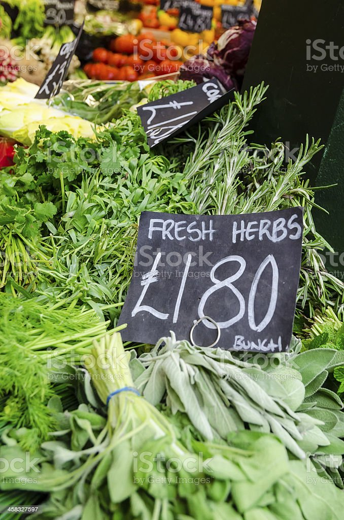 Fresh herbs at the marketplace royalty-free stock photo