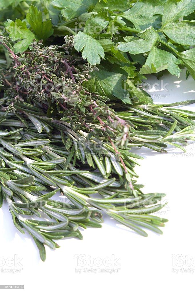 Fresh Herbs Displayed royalty-free stock photo