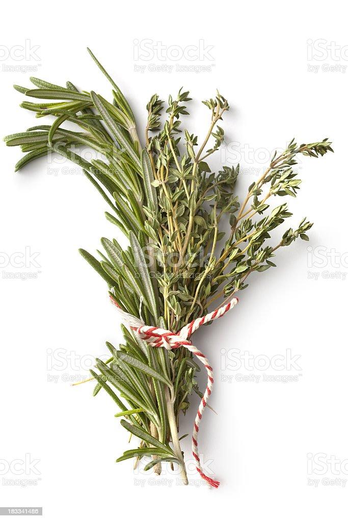 Fresh Herbs: Garnished Bouquet stock photo