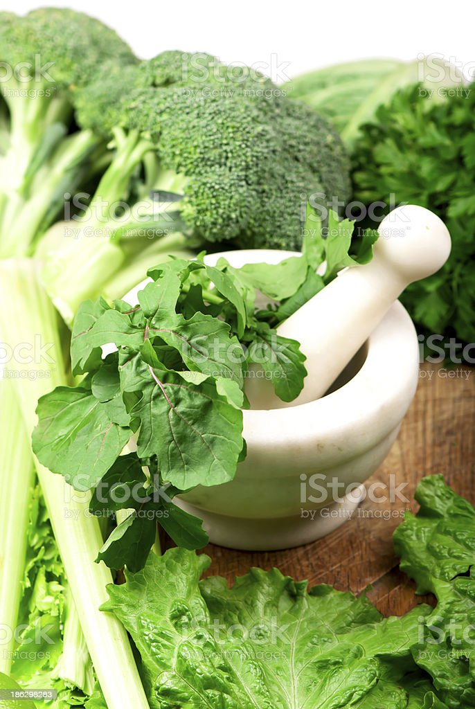 Fresh herbs in the kitchen royalty-free stock photo
