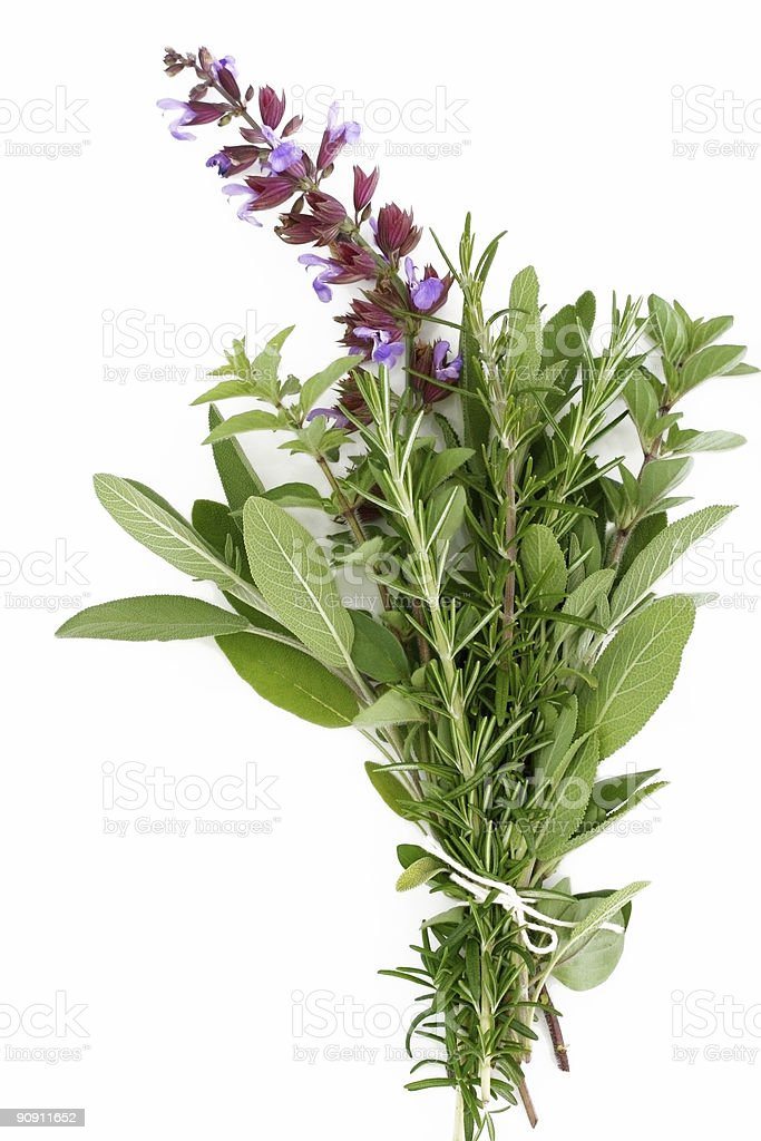 Fresh Herbs - Rosemary, Sage, Oregano royalty-free stock photo