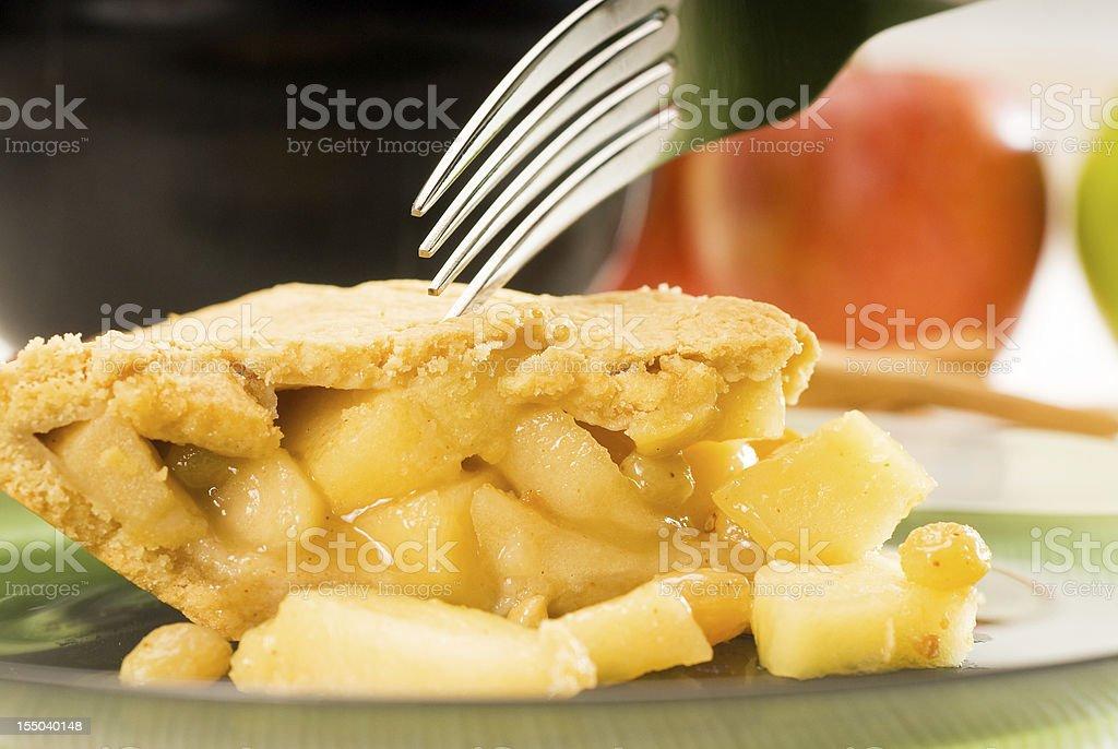 fresh homemade apple pie royalty-free stock photo