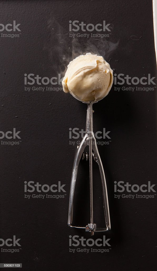 Fresh Homemade Ice Cream stock photo