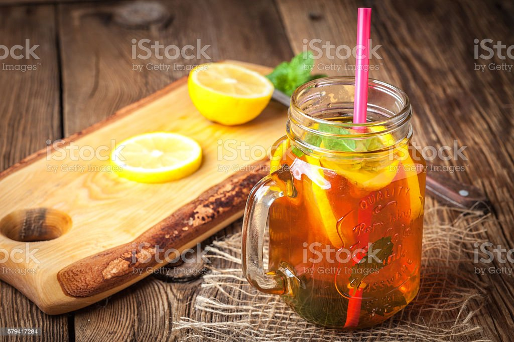 Fresh homemade ice tea. – Foto