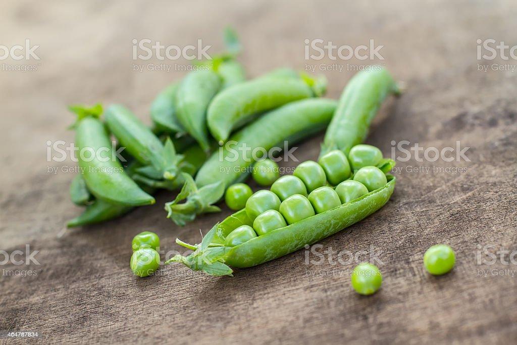 Fresh Homemade Peas stock photo