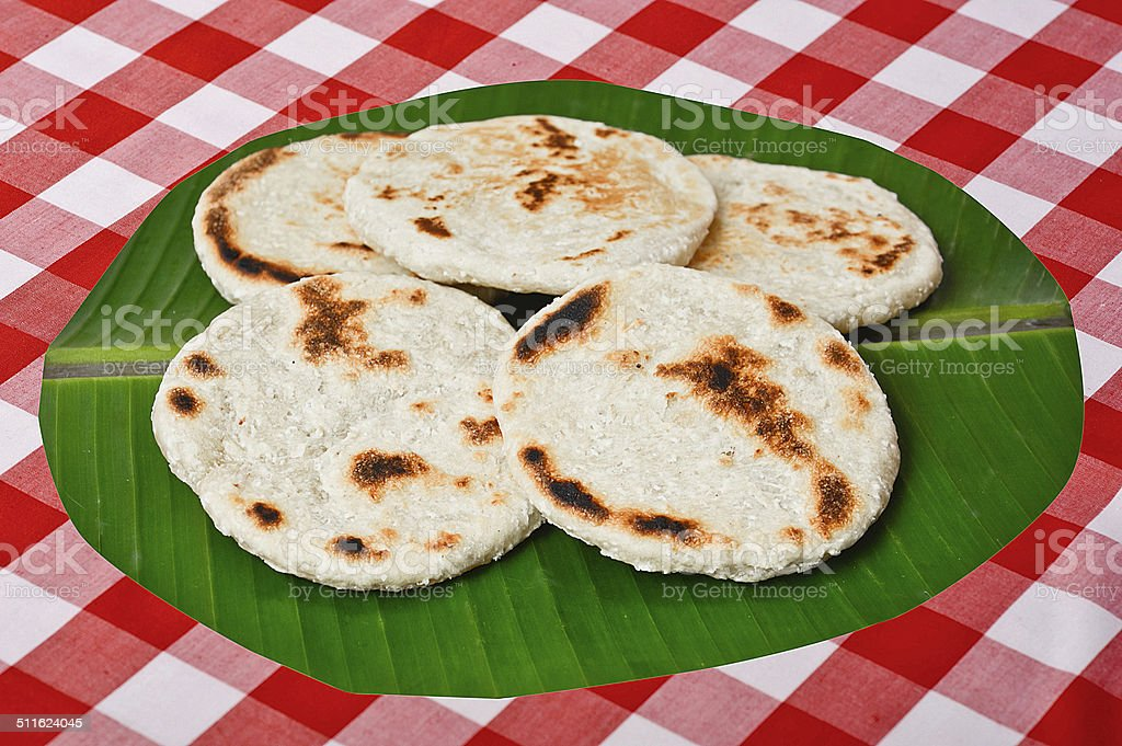 Fresh Homemade Sri Lankan Pol Roti stock photo