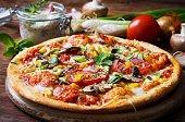 Fresh homemade vegetarian pizza