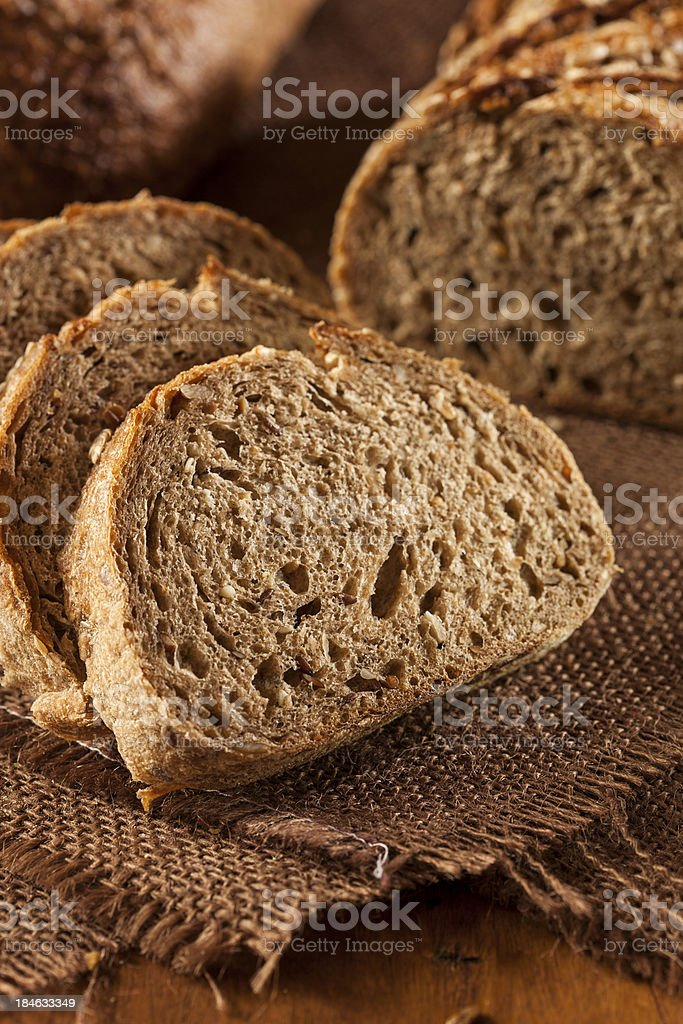 Fresh Homemade Whole Wheat Bread royalty-free stock photo