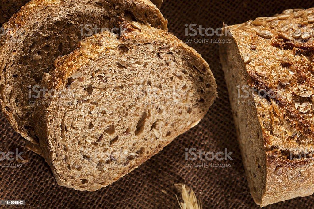 Fresh Homemade Whole Wheat Bread royalty-free stock photo