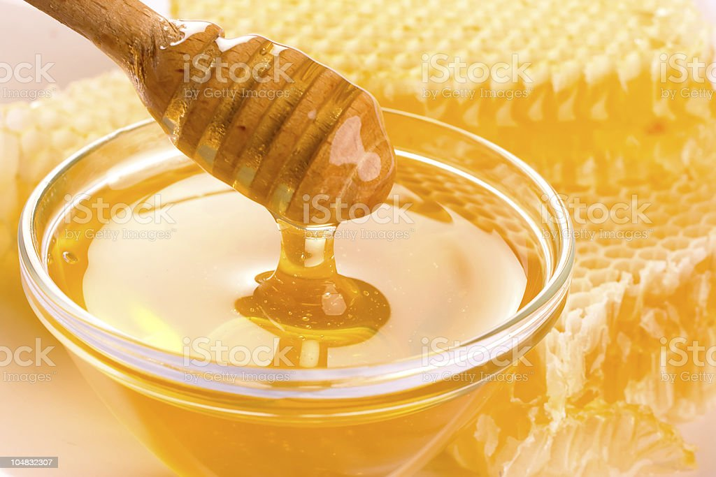 Fresh honey stock photo