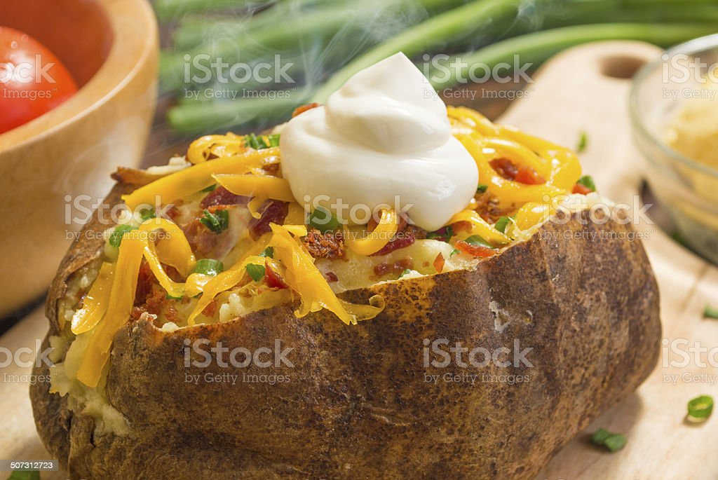 fresh quente de batata assada - foto de acervo
