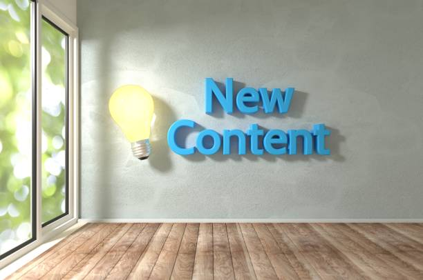 Fresh Ideas and Content stock photo