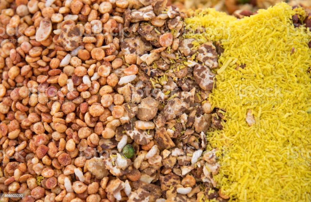 Fresh India spices adn nuts stock photo