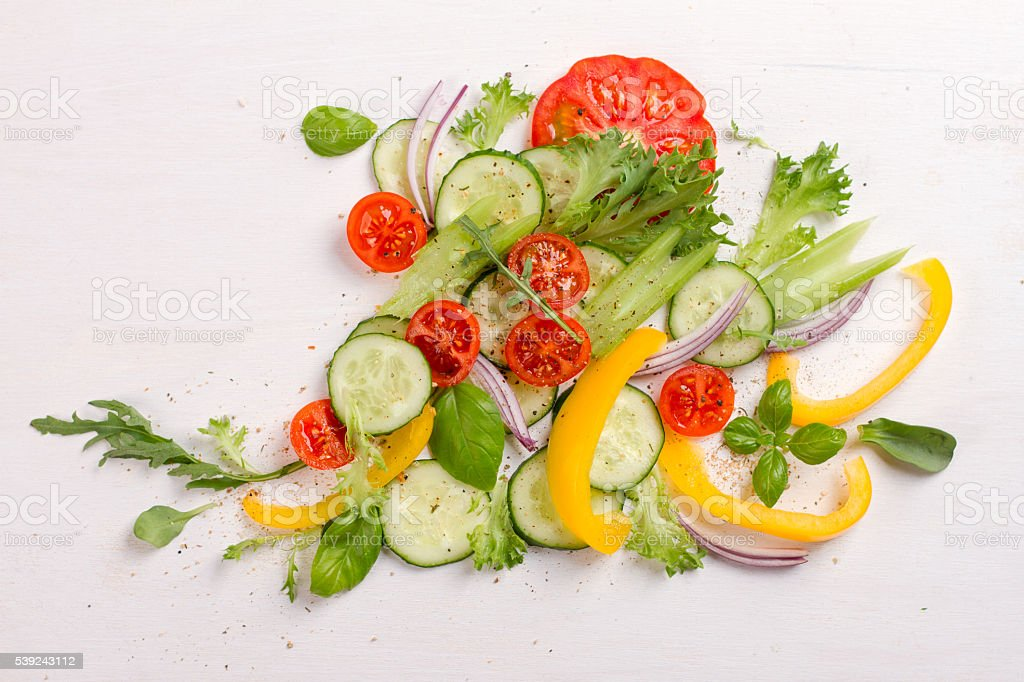 Fresh ingredients for salad royalty-free stock photo
