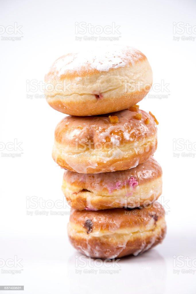 Fresh isolated donuts stock photo