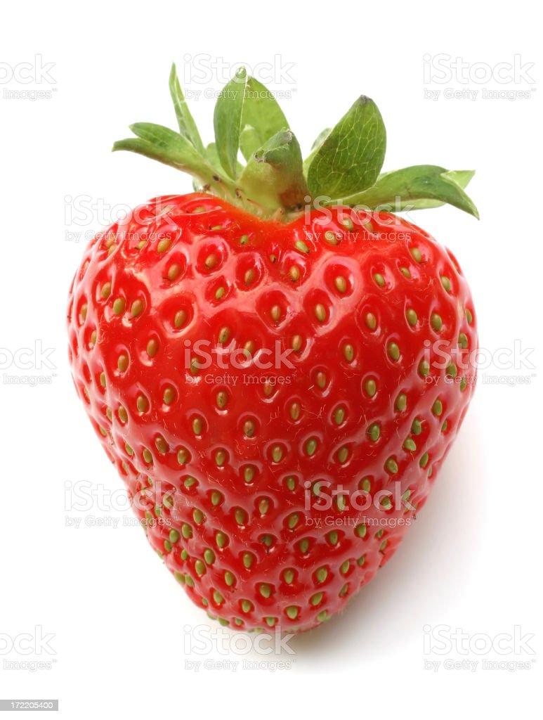 Fresh Isolated Strawberry (Heart Shaped) stock photo