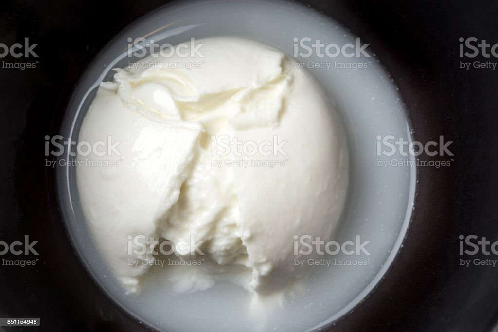 Fresh Italian Mozzarella di Buffalo stock photo