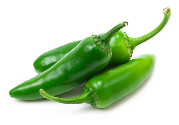 Fresh jalapeno peppers stock photo