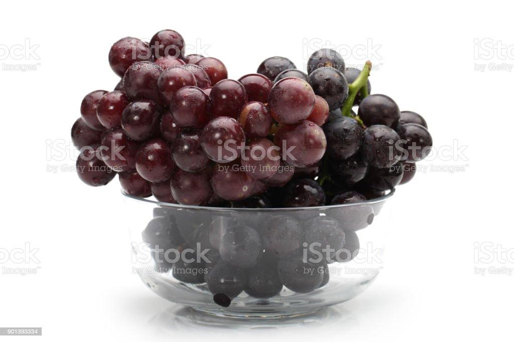 Fresh Japanese grapes  isolated on white background stock photo