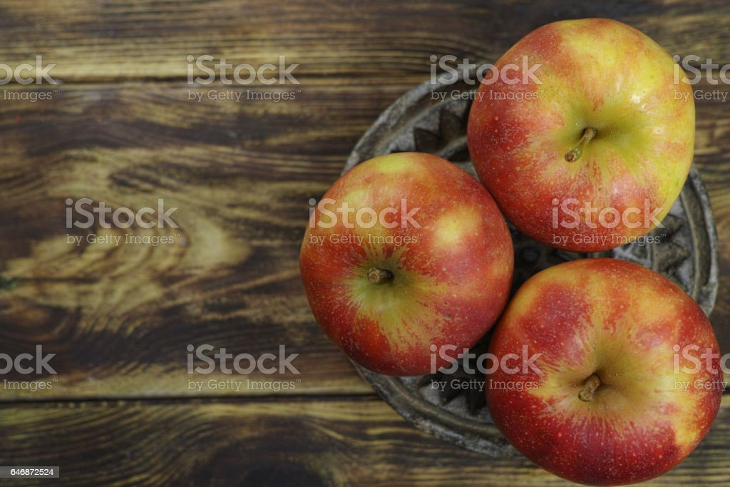 Fresh jonagold apples stock photo