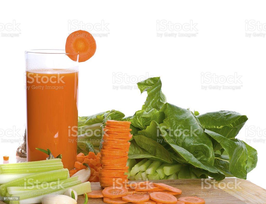 Fresh juice  Carrot Stock Photo