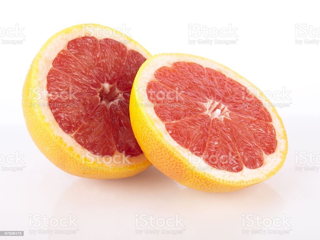 fresh juicy red grapefruit royalty-free stock photo