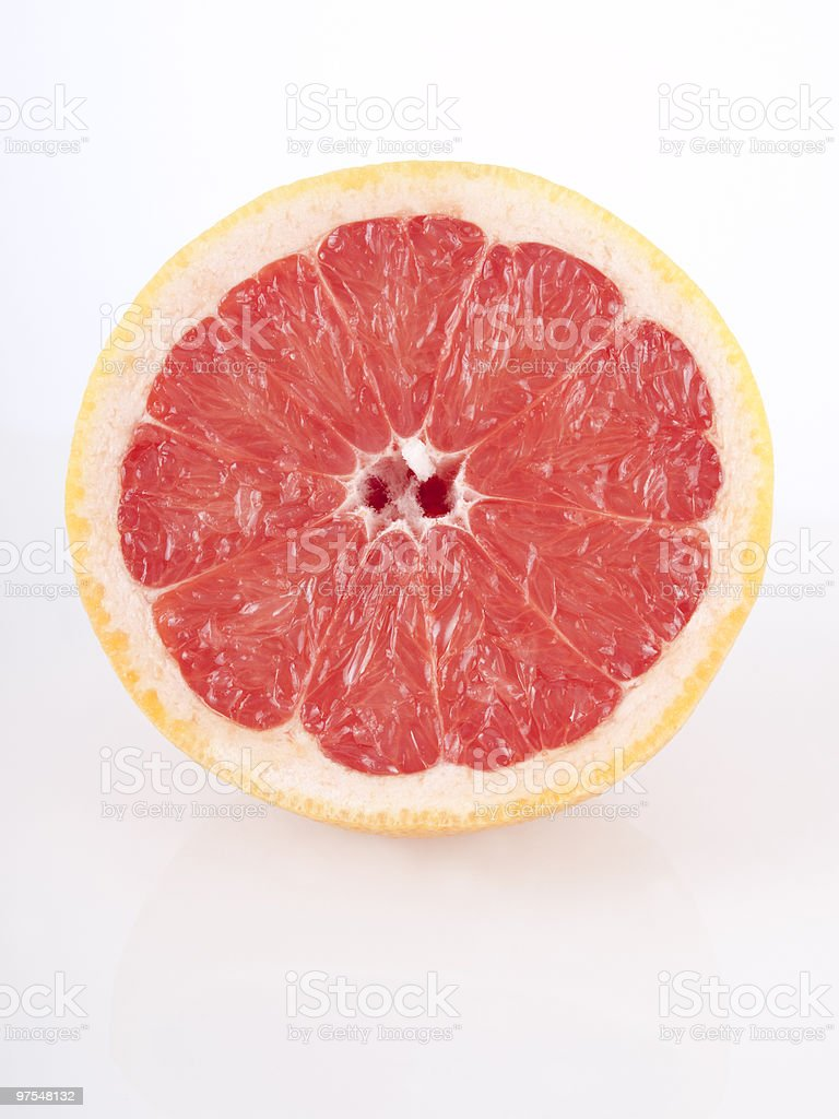 fresh juicy red grapefruit royalty-free stock photo