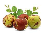 istock Fresh Jujube fruits isolated on white background 1211330815
