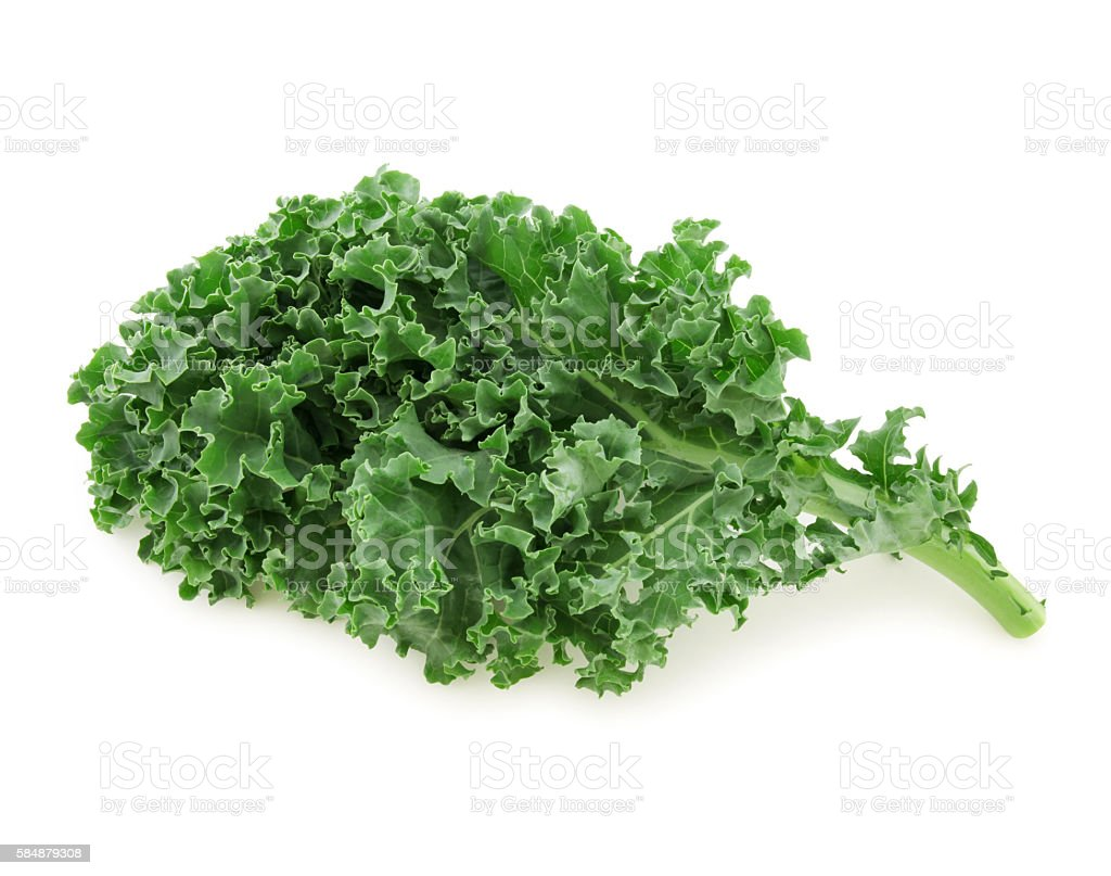 Fresh Kale (with path) stock photo
