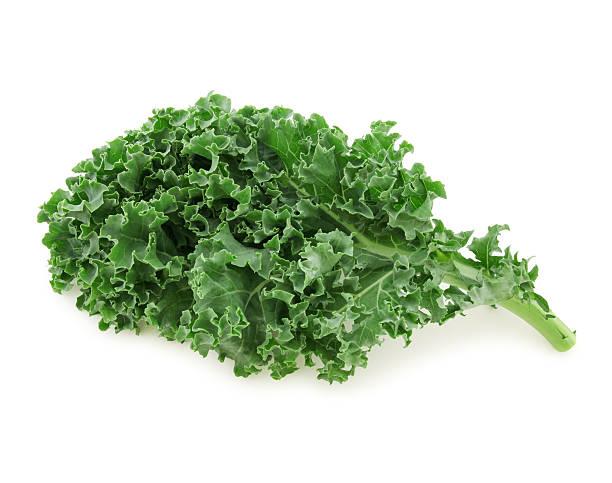 fresh kale - clipping path stock-fotos und bilder