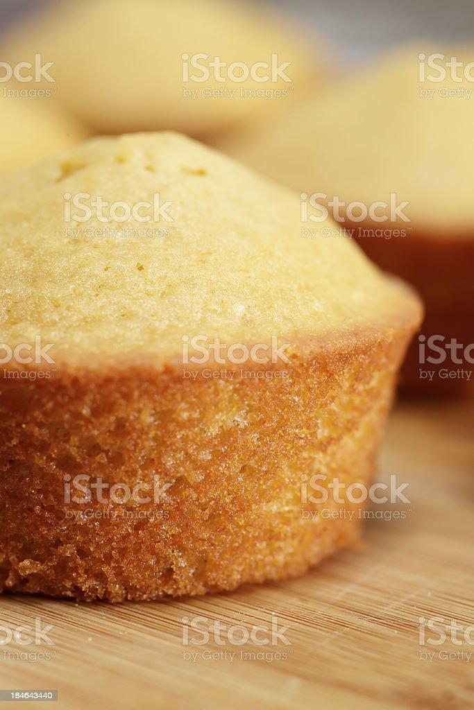 Fresh lemon muffins stock photo