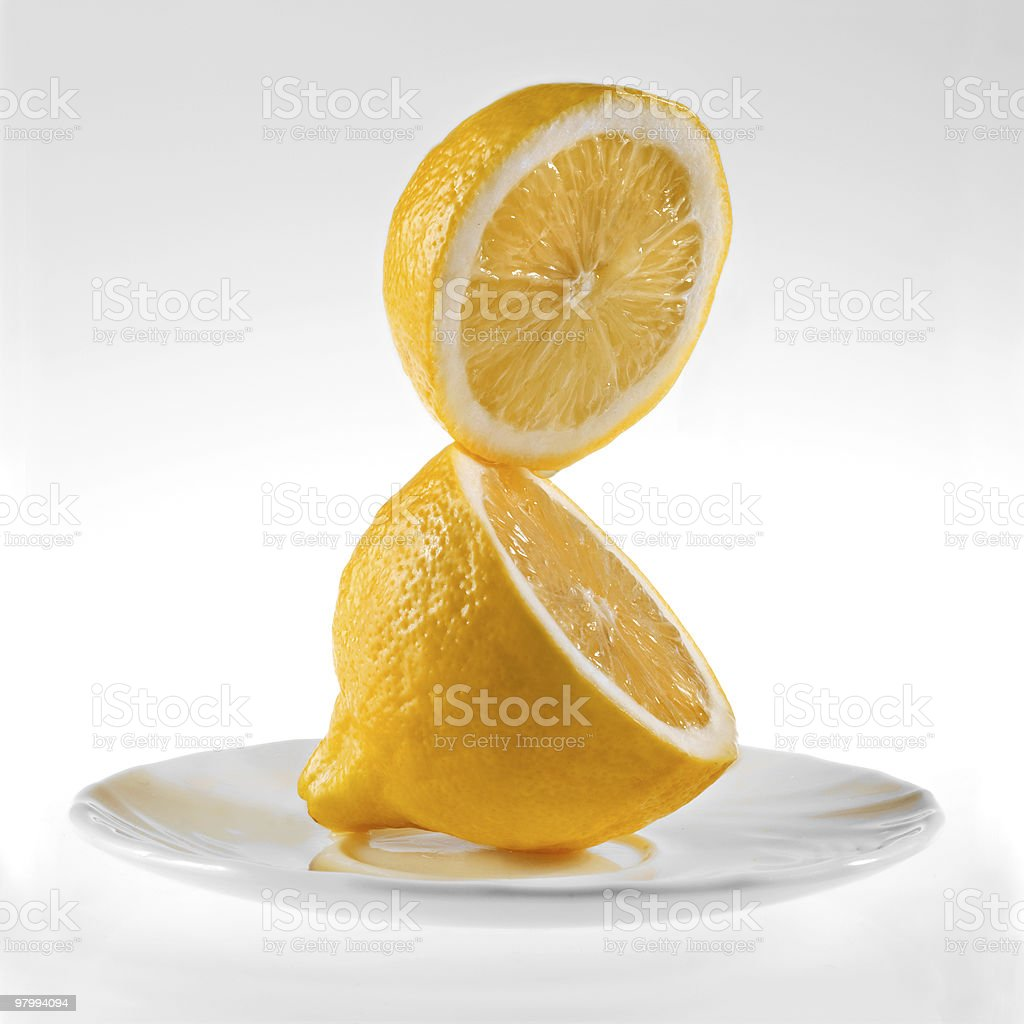 fresh lemon on a white background royalty free stockfoto