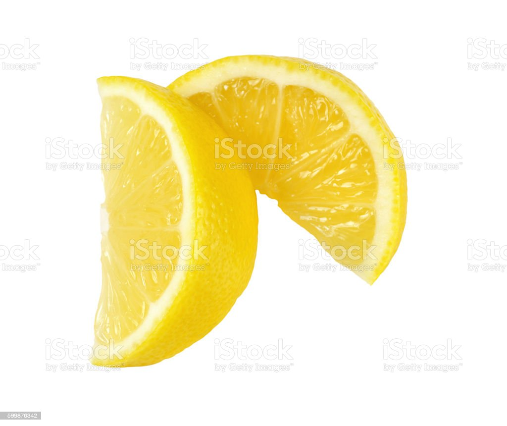 fresh lemon slices stock photo