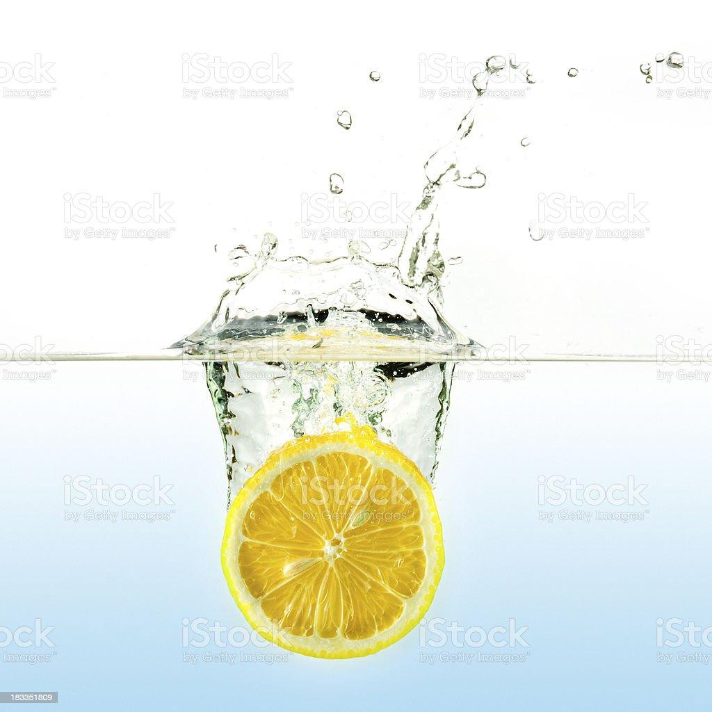 Fresh lemon water splash royalty-free stock photo