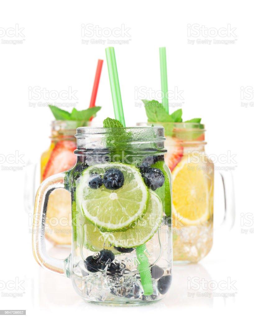 Fresh lemonade jar royalty-free stock photo