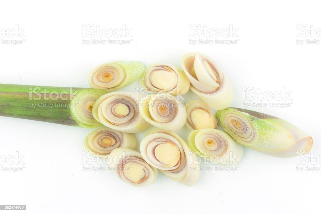 Fresh Lemongrass on white background royalty-free stock photo