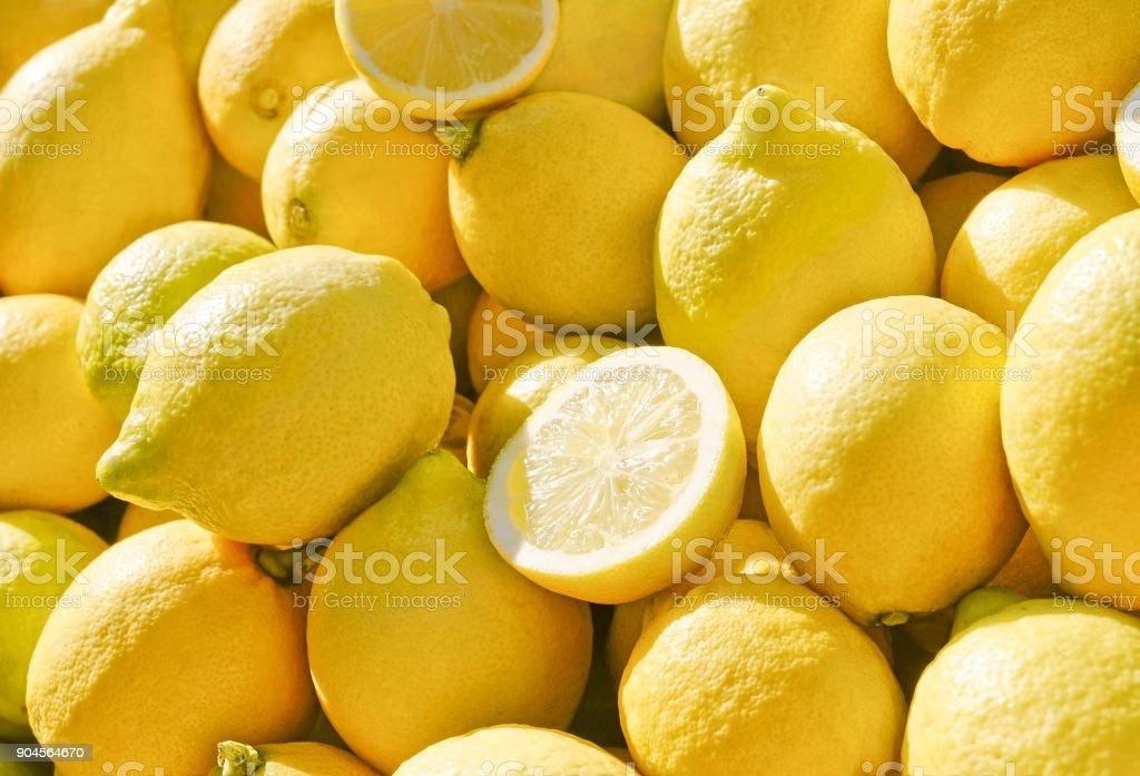 Frische Zitronen - Zitrusfrüchte – Foto