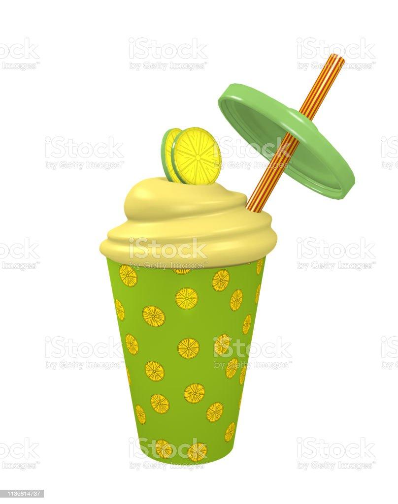 Frische Zitronen-Milchshake – Foto