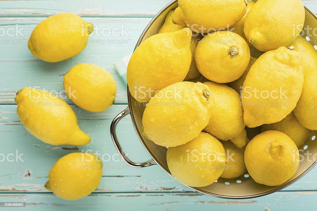 Fresh lemons. stock photo