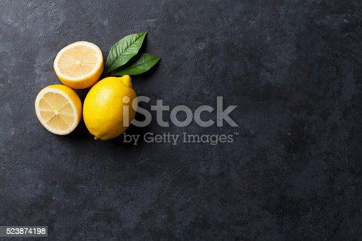 istock Fresh lemons 523874198