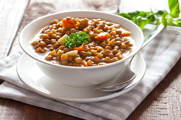 fresh lentil stew  stew stock pictures, royalty-free photos & images