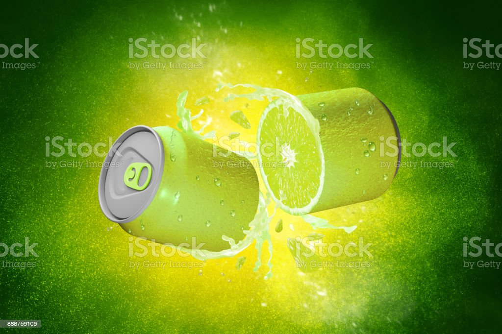Fresh Lime Fruit Can - foto stock